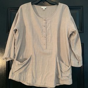J Jill Cotton Tunic with 3/4 Sleeves and Pockets